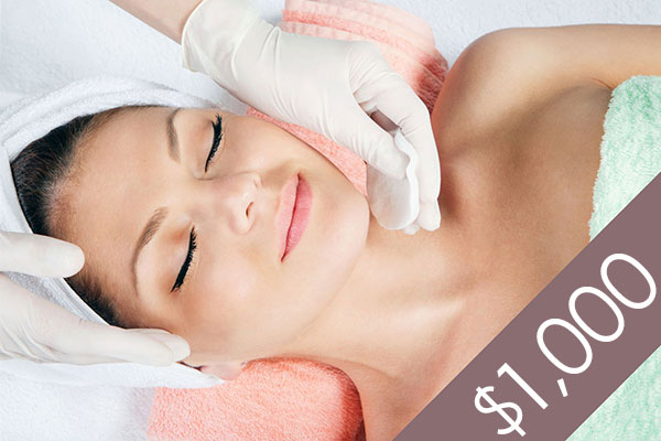 Denver Skin Care Clinic and Medical Spa $1,000 Gift Certificate gc f1000 bg