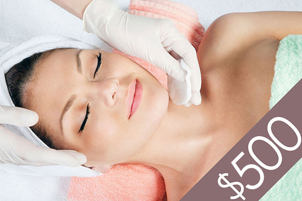 Denver Skin Care Clinic and Medical Spa $500 Gift Certificate gc f500 bg