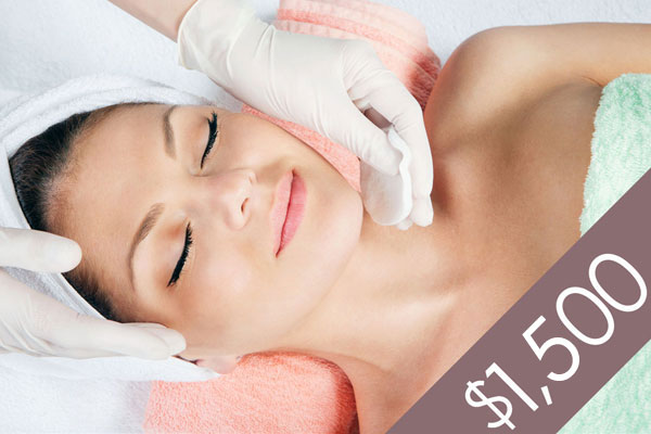 Denver Skin Care Clinic and Medical Spa $1500 Gift Certificate gc f1500 bg
